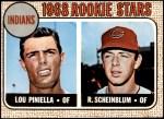 1968 Topps #16 A  -  Lou Piniella / Richie Scheinblum Indians Rookies Front Thumbnail