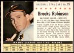 1961 Post Cereal #75 COM Brooks Robinson   Front Thumbnail