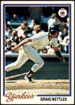 1978 Topps #250  Graig Nettles  Front Thumbnail