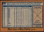 1978 Topps #85  Ron Fairly  Back Thumbnail