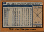 1978 Topps #300  Joe Morgan  Back Thumbnail