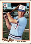 1978 Topps #394  Roy Howell  Front Thumbnail