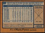 1978 Topps #613  Marty Perez  Back Thumbnail