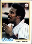1978 Topps #442  Elliott Maddox  Front Thumbnail