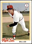 1978 Topps #295  Bill Lee  Front Thumbnail