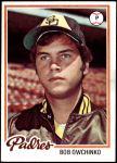1978 Topps #164  Bob Owchinko  Front Thumbnail