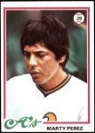 1978 Topps #613  Marty Perez  Front Thumbnail