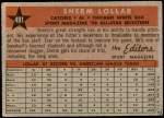 1958 Topps #491   -  Sherm Lollar All-Star Back Thumbnail