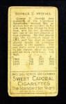 1911 T205  George Stovall  Back Thumbnail