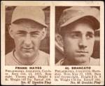 1941 Double Play #47  / 48 Frank Hayes / Al Brancato  Front Thumbnail
