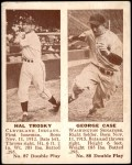 1941 Double Play #87  / 88 Hal Trosky / George Case  Front Thumbnail