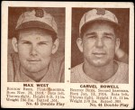 1941 Double Play #43  / 44 Max West / Carvel Rowell  Front Thumbnail
