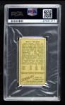 1911 T205  Beals Becker  Back Thumbnail