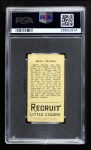 1912 T207  Harry Krause    Back Thumbnail