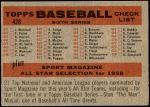 1958 Topps #428 NUM  Reds Team Checklist Back Thumbnail