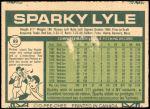 1977 O-Pee-Chee #89  Sparky Lyle  Back Thumbnail