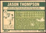 1977 O-Pee-Chee #64  Jason Thompson  Back Thumbnail