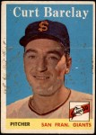 1958 Topps #21  Curt Barclay  Front Thumbnail