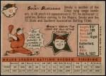 1958 Topps #49  Smoky Burgess  Back Thumbnail