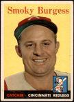 1958 Topps #49  Smoky Burgess  Front Thumbnail