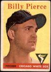 1958 Topps #50 WT Bill Pierce  Front Thumbnail