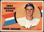 1960 Topps #132   -  Frank Howard Rookie Star Front Thumbnail