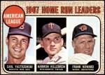 1968 Topps #6   -  Frank Howard / Harmon Killebrew / Carl Yastrzemski AL HR Leaders Front Thumbnail