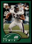 2002 Topps #79  Ray Lewis  Front Thumbnail