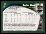 2002 Topps #243  Dedric Ward  Back Thumbnail