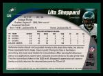 2002 Topps #328  Lito Sheppard  Back Thumbnail