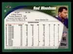 2002 Topps #31  Rod Woodson  Back Thumbnail