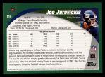 2002 Topps #116  Joe Jurevicius  Back Thumbnail