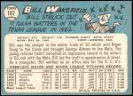 1965 Topps #167  Bill Wakefield  Back Thumbnail