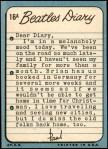 1964 Topps Beatles Diary #16 A Paul McCartney  Back Thumbnail