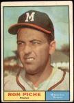 1961 Topps #61  Ron Piche  Front Thumbnail