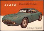 1954 Topps World on Wheels #138   Siata Front Thumbnail