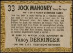 1958 Topps TV Westerns #33   Jock Mahoney  Back Thumbnail