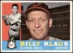 1960 Topps #406  Billy Klaus  Front Thumbnail
