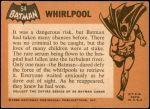 1966 Topps Batman Black Bat #54   Whirlpool Back Thumbnail