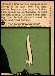 1966 Topps Batman Red Bat #29   Danger From 25th Century Back Thumbnail