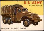 1954 Topps World on Wheels #55   2 1/2 Ton Truck Front Thumbnail