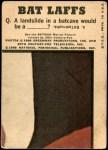 1966 Topps Batman Bat Laffs #10   Batman & Robin Back Thumbnail