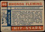 1957 Topps Hit Stars #46  Rhonda Fleming   Back Thumbnail
