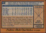 1978 Topps #164  Bob Owchinko  Back Thumbnail