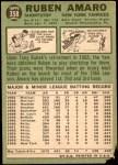 1967 Topps #358  Ruben Amaro  Back Thumbnail
