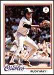 1978 Topps #262  Rudy May  Front Thumbnail