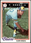 1978 Topps #303  Sam Hinds  Front Thumbnail