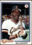 1978 Topps #34  Willie McCovey  Front Thumbnail