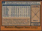 1978 Topps #141  Ruppert Jones  Back Thumbnail