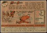1958 Topps #278  Mack Burk  Back Thumbnail